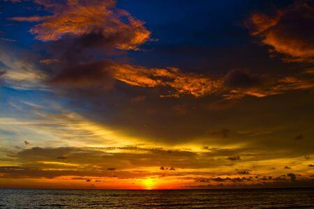 Beautiful sunset on the beach in Thailand. Stock Photo - 17029447
