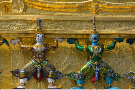 Mythical figure from the buddhist temple of Grand Palace, Bangkok Thailand  Stock Photo - 17038392