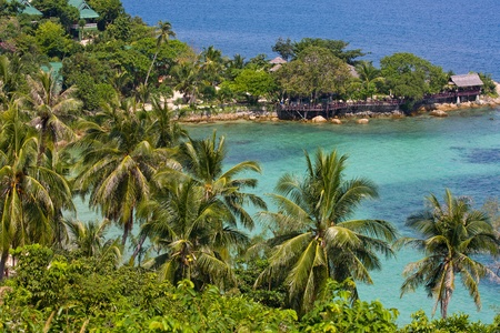 phangan: Tropical island Koh Phangan, Thailand. Top view.