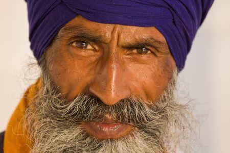 Portrait of Indian sikh man in turban with bushy beard Stock Photo - 17283111