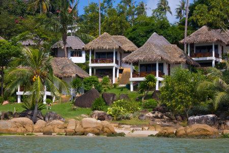 Tropical beach house on the island Koh Samui, Thailand Stock Photo - 17435780