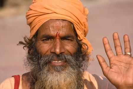 Indian sadhu (holy man). Devprayag, Uttarakhand, India. Stock Photo - 17449607