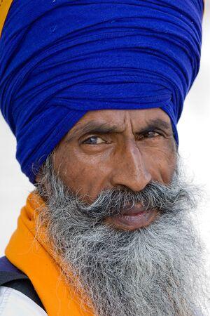 Portrait of Indian sikh men in turban with bushy beard Stock Photo - 17501191
