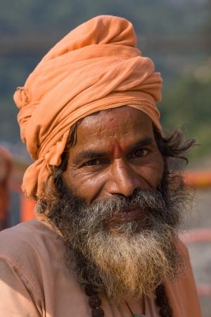 Indian sadhu (holy man). Devprayag, Uttarakhand, India. Stock Photo - 17592343