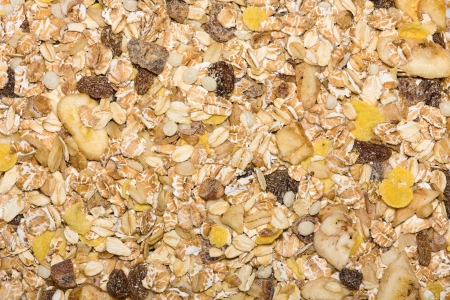 Closeup of a pile of muesli Stock Photo - 17692839