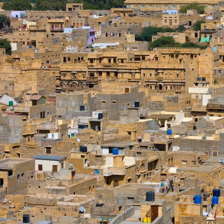 City view of Jaisalmer, a city in Rajasthan, India photo