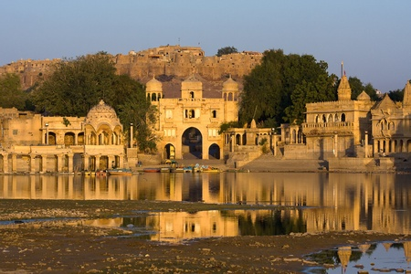Gadi Sagar Gate, Jaisalmer, India photo