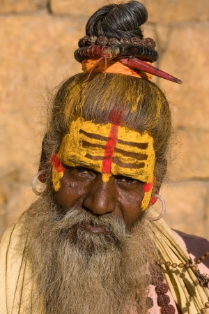 Indian sadhu  holy man   Jaisalmer, Rajasthan, India  photo