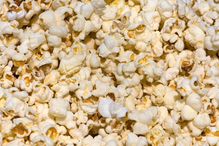 Salted popcorn background Stock Photo - 18511652