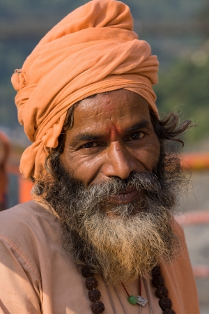Indian sadhu (holy man). Devprayag, Uttarakhand, India. Stock Photo - 18529047
