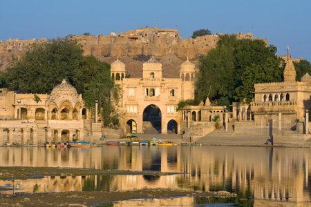 sagar: Gadi Sagar Gate, Jaisalmer, India Editorial