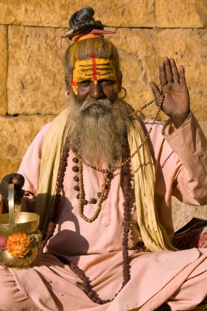 Indian sadhu (holy man). Jaisalmer, Rajasthan, India. Stock Photo - 19342274