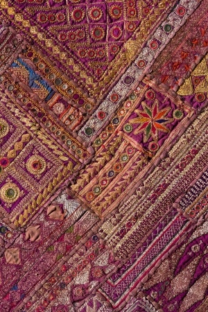 Indian patchwork carpet in Rajasthan, Asia 版權商用圖片