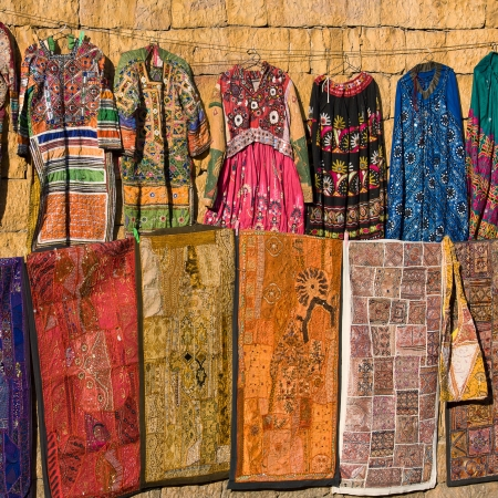 Colorful market in Jaisalmer. Rajasthan, India. photo