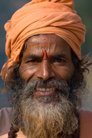Indian sadhu (holy man). Devprayag, Uttarakhand, India. photo