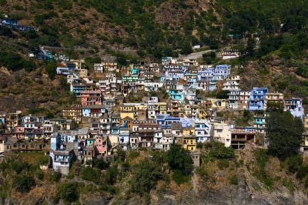 devprayag: Devprayag is the last prayag of Alaknanda River and from this point the confluence of Alaknanda and Bhagirathi River is known as Ganga. Uttarakhand, India. Stock Photo