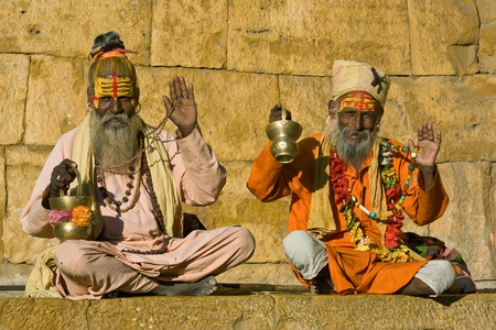 Indian sadhu (holy man). Jaisalmer, Rajasthan, India. Stock Photo - 21053857