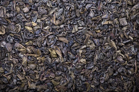 The background and texture of dry green tea photo