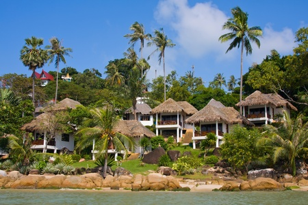 Tropical beach house on the island Koh Samui, Thailand photo