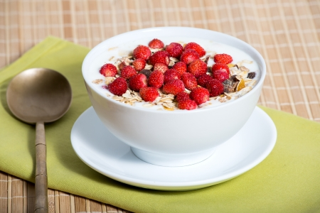 Delicious and healthy granola or muesli, with lots of dry fruits, nuts, berries and grains