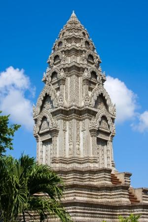 Buddhist temple in Phnom Penh, Cambodia . Stock Photo