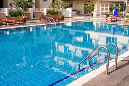spa resort: Swimming pool in spa resort . Thailand .