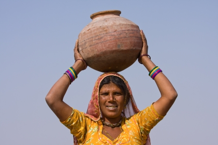 rajasthan: Portrait of an Indian woman, Pushkar, Rajasthan, India. Stock Photo
