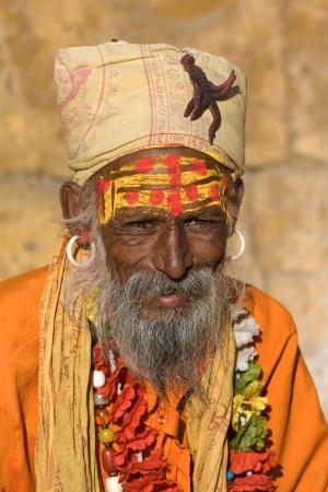 Indian sadhu (holy man). Jaisalmer, Rajasthan, India. Stock Photo - 21731695