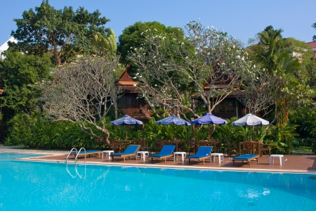 Swimming pool , Thailand.