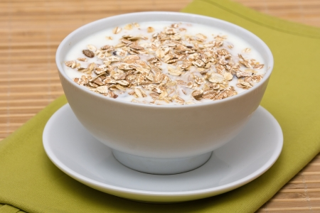 dry fruits: Delicious and healthy granola or muesli, with lots of dry fruits, nuts and grains