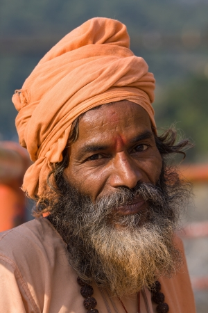 Indian sadhu (holy man). Devprayag, Uttarakhand, India. Stock Photo - 21775632
