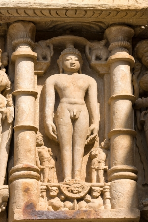 Temples of Khajuraho, one of the most popular tourist destinations in India, and famous for their erotic sculptures.  photo