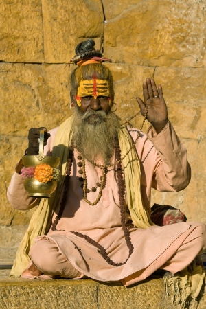 Indian sadhu (holy man). Jaisalmer, Rajasthan, India. Stock Photo - 22144774