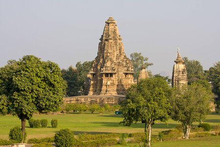 Vishwanatha templo hind� en Khajuraho, India photo