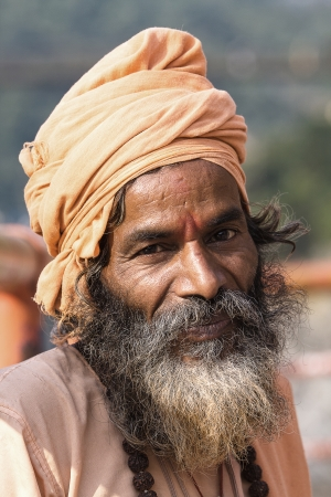 Indian sadhu  holy man   Devprayag, Uttarakhand, India  photo