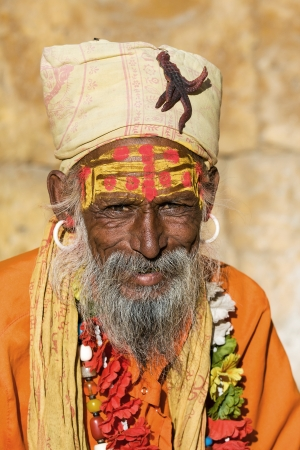 Indian sadhu (holy man). Jaisalmer, Rajasthan, India. Stock Photo - 22720738