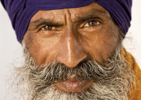 Portrait of Indian sikh man in turban with bushy beard Stock Photo - 22809577