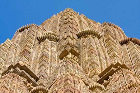 khajuraho: Vishwanatha hindu temple in Khajuraho, India
