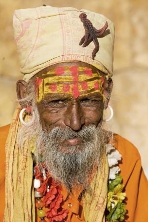 Indian sadhu (holy man). Jaisalmer, Rajasthan, India. Stock Photo - 22809644