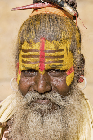 Indian sadhu (holy man). Jaisalmer, Rajasthan, India. photo