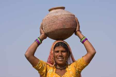 Portrait of an Indian woman, Pushkar, Rajasthan, India. photo