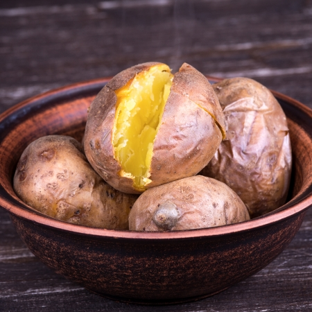 Ukrainian national dish is baked potatoes
