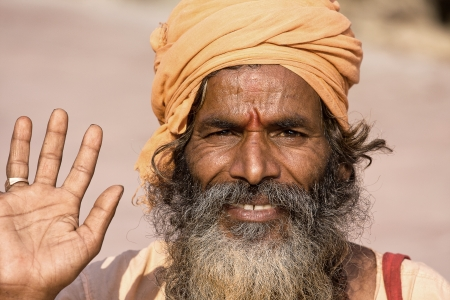 Indian sadhu  holy man   Devprayag, Uttarakhand, India  Stock Photo - 24097733
