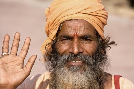 Indian sadhu  holy man   Devprayag, Uttarakhand, India Stock Photo - 24097733