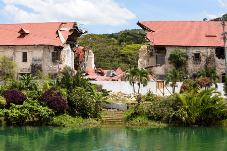 Collapsed church in Bohol.
