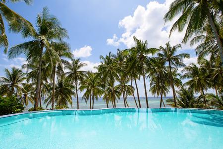 nido: Swimming pool near the sea in Philippines