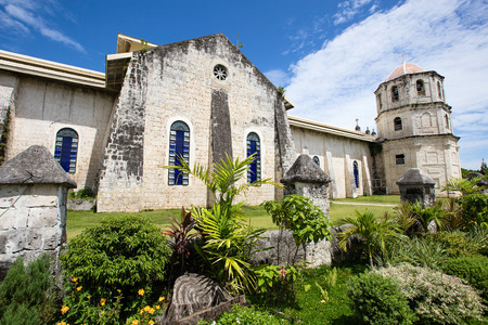An old baroque church in the Oslob, Philippines. photo