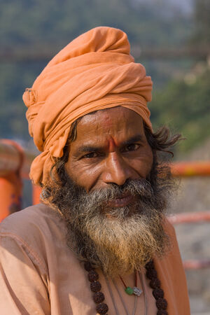 Indian sadhu (holy man) photo