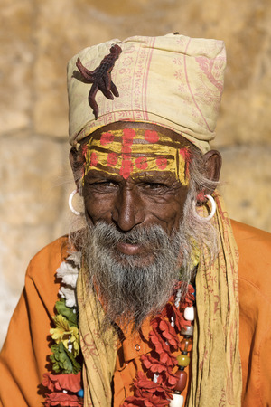Indian sadhu (holy man). Jaisalmer, Rajasthan, India. Stock Photo - 28784725