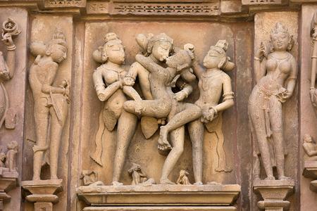 asia nude: Erotic Temple in Khajuraho. Madhya Pradesh, India.